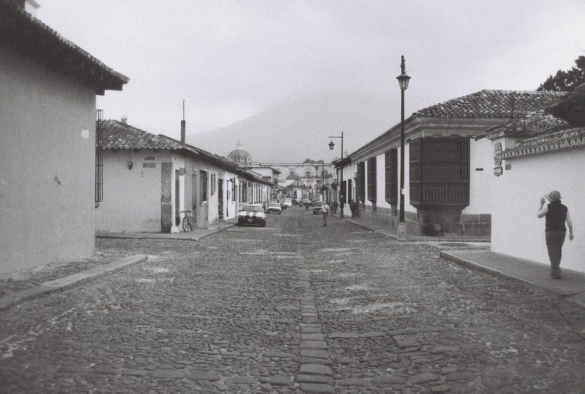 Near empty street in Antigua