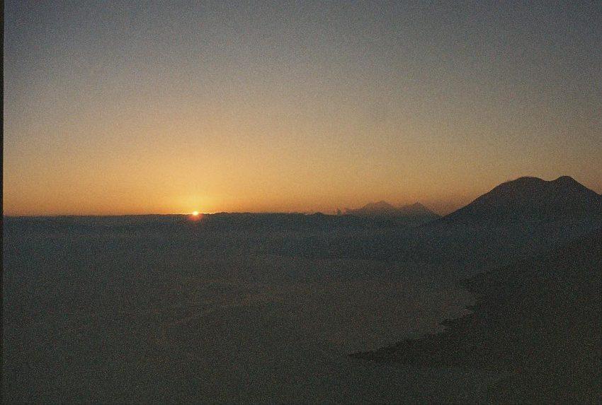 Sunrise and volcanoes
