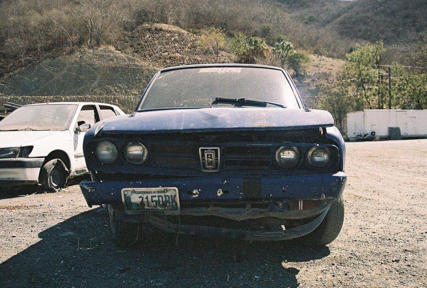 Beaten up old car