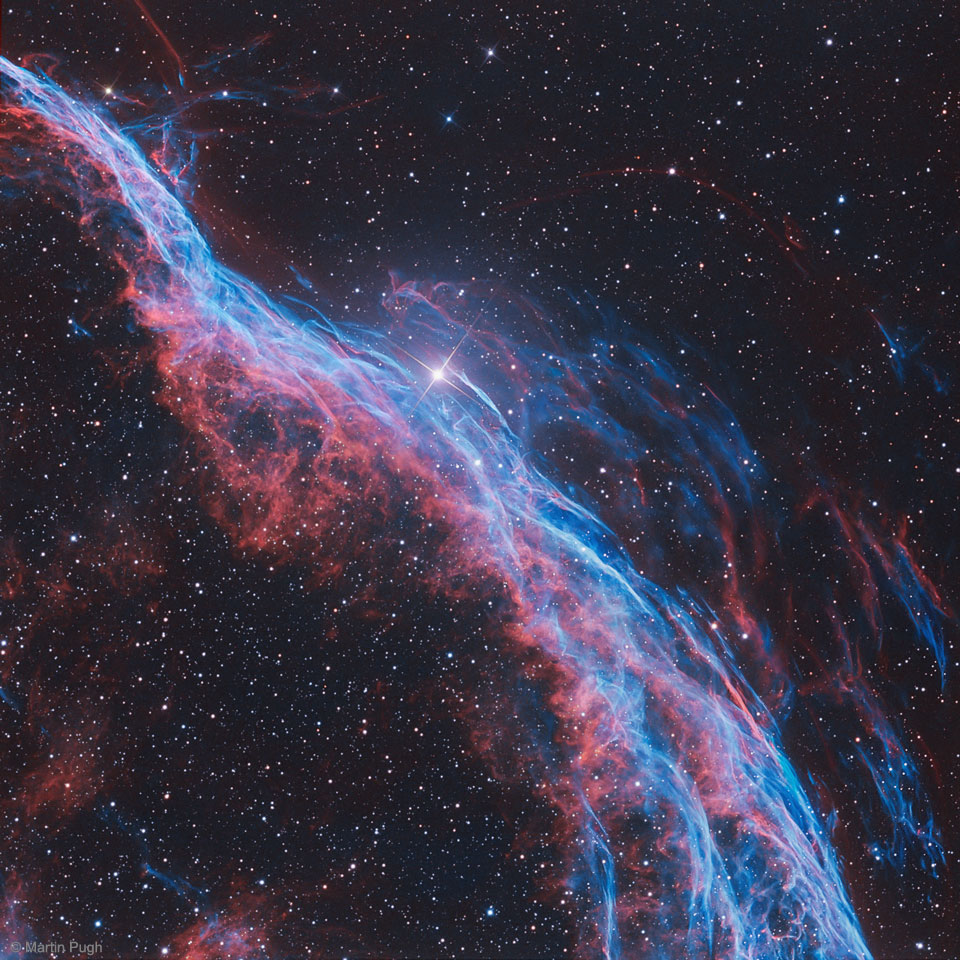 NGC 6960: The Witch's Broom Nebula by  Martin Pugh (Heaven's Mirror Observatory)